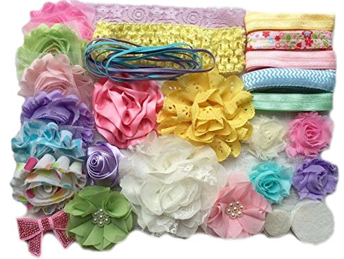 Bowtique Emilee Mini Headband Kit Makes 15 Headbands, DIY Baby Headband Kit -