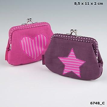 2381a12e5e5bf TopModel Geldbeutel Herz Geldbörse Portemonnaie pink grau Model Talita  Louise