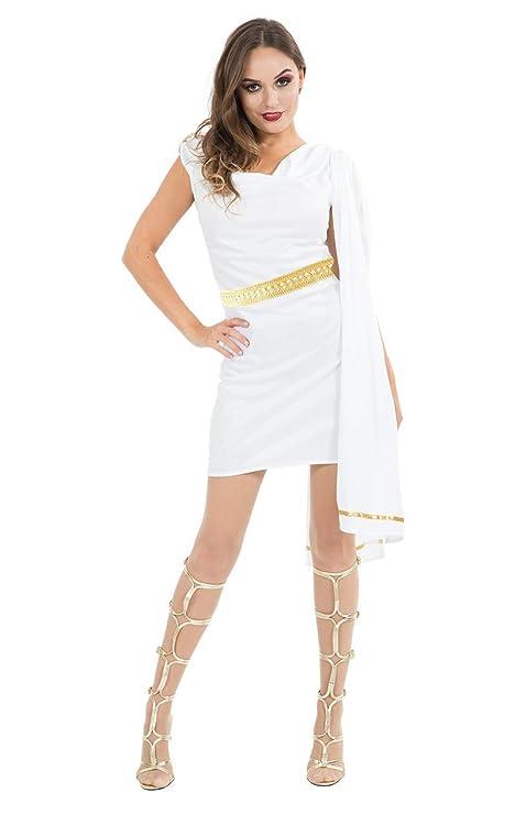 wholesale dealer 6f87a b230c Costume Carnevale da Antica Roma Toga Giulio Cesare gladiatore - sexy donna  Medium