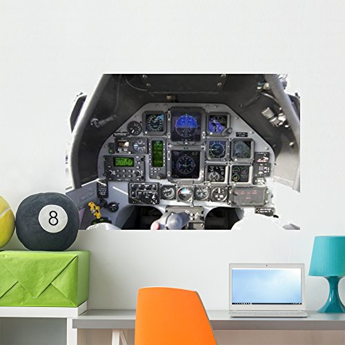 Interior Cockpit Iraqi Air Wall Mural by Wallmonkeys Peel and Stick Graphic (36 in W x 24 in H) WM86185