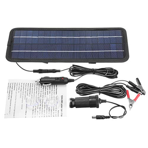 - ZUINIUBI Solar Panel Trickle Battery Charger System Single Crystal Silicon Waterproof Boat Auto 4.5W 12V
