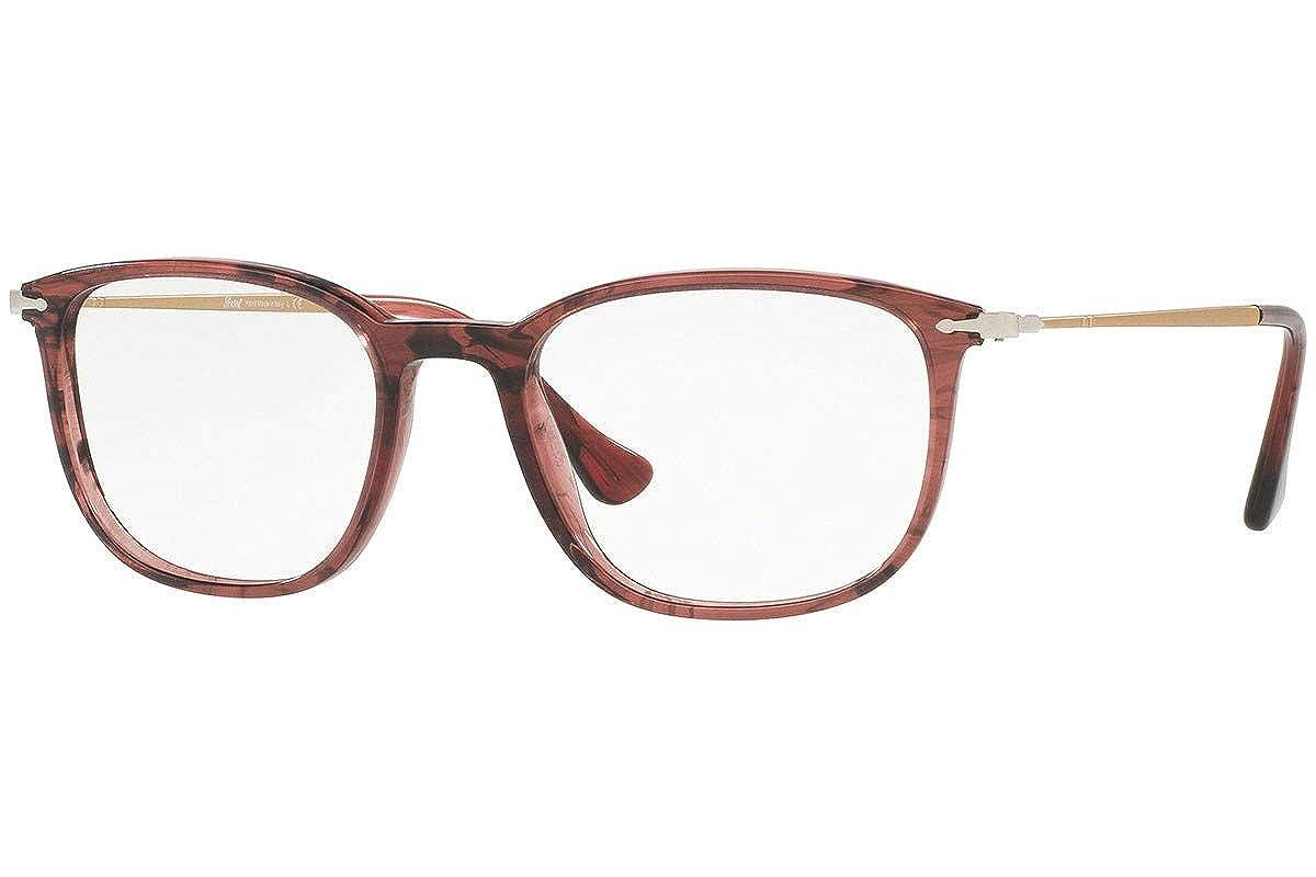 Persol PO3146V Eyeglasses 53-19-140 Striped Cherry w//Demo Clear Lens 1054 PO3146-V PO 3146-V PO 3146V