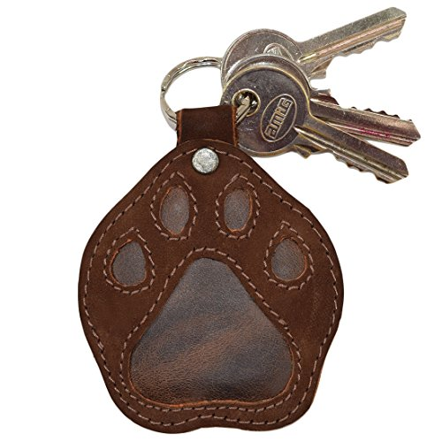 Leather Doggy Paw Keychain/Charm & Dog Lover Gift Handmade by Hide & Drink :: Swayze Suede