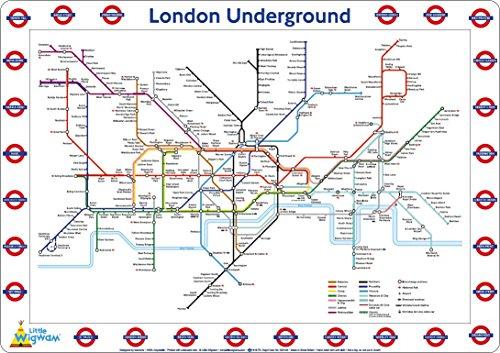 Price comparison product image Little Wigwam London Underground Map Placemat