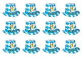 Beistle S66214-25AZ12 Oktoberfest (12 Piece) Hi-Hats, Multicolor