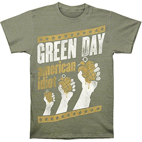 Green Mens Handout Vintage T shirt
