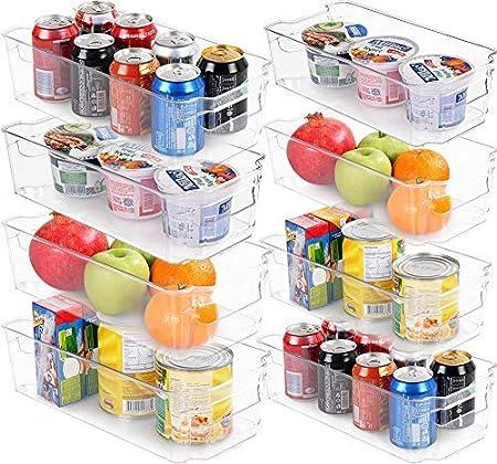 KICHLY (Juego de 8) Organizador para la despensa del refrigerador ...