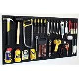 "WallPeg 24"" x 48"" Garage Pegboard Kit with Pegboard Accessories AM 24242BK"
