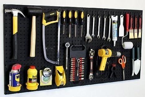 WallPeg 24' x 48' Garage Pegboard Kit with Pegboard Accessories AM 24242BK