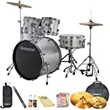 Ludwig Accent Fuse 5-Pc Drum Set (LC1708) White Finish - Includes: Hardware, Throne, Pedal, Cymbals, Sticks and Drum Key