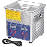 AW 2L Stainless Steel Ultrasonic Cleaner Heater Timer Bracket Jewelry Lab Glasses Bullet Gun Home