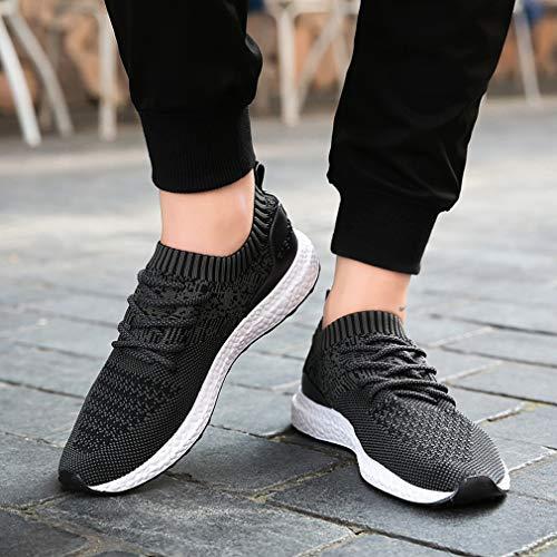 Freizeitschuhe Sport Knit Atmungsaktiv 239schwarz Leichte Turnschuhe Männer Outdoor Fitness GUDEER Schuhe Sneaker Ultra Sportschuhe Laufschuhe Herren 8vgwzg