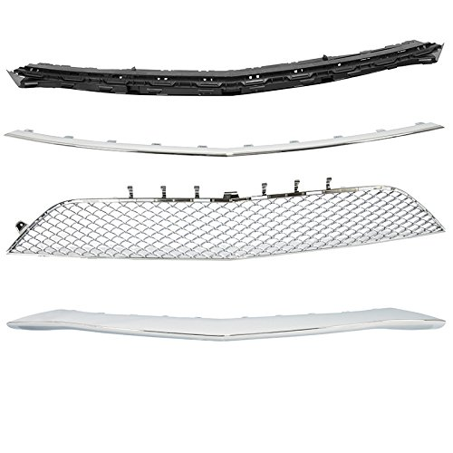 Complete Front Bumper Kit 2014-2017 Mercedes S Class AMG Style Chrome Trim W222 by Generic (Image #5)