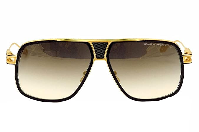9c07e830fa5c Amazon.com  Dita Grandmaster Five DRX-2077B DRX2077B Navy 18K Gold Pilot  Sunglasses 64mm  Dita  Shoes