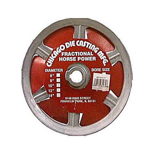 "Chicago Die Cast Single V Grooved Pulley A Section Belt Width 8 "" Dia X 5/8 "" Bore Bulk"