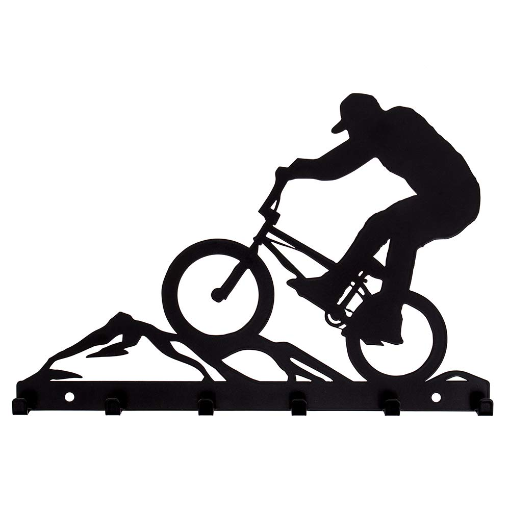 Schlüsselbrett BMX-Rad Metall Hakenleiste 6 Haken Schlüsselboard Fahrrad