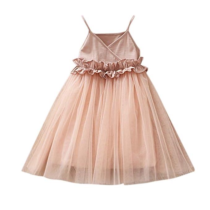 Amazon.com: VEFSU Vestido de malla para niños y niñas ...