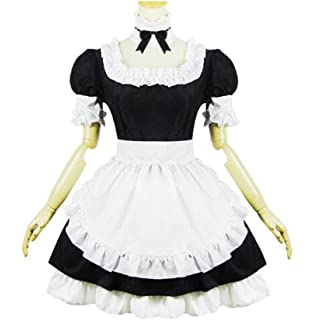 e81ce13d3 New Girl s Lolita French Gothic Maid Cosplay Costumes Fancy Dress ...