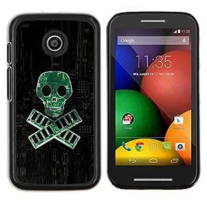 TECHCASE---Cubierta de la caja de protección para la piel dura ** Motorola Moto E ( 1st Generation ) ** --PC RAM pirata - Geek Tech