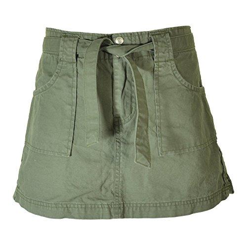 - Molecule Women's Belted Adventurer Cargo Skirt - Cotton, Funky Built-in Belt | USA 10/L (Tag XL) Field Green