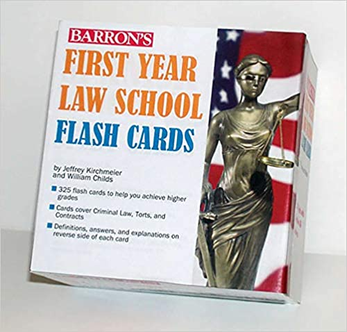 350 Cards with Questions /& Answers Barrons First Year Law School Flash Cards