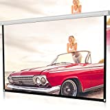 Dreamyth Projector Screen, Durable 60inch/72inch/84inch/100inch/120inch HD Projector Screen 16:9 Home Cinema Theater Projection Portable Screen (White, 100inch)