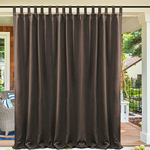 cololeaf Waterproof Pergola Outdoor Curtain Panel Drapes Blackout Outdoor D cor Tab Top Curtains Light Blocking