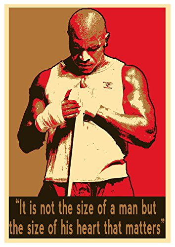 (General ART Poster Boxers Propaganda Quotes Evander Holyfield - Formato A3 (42x30 cm))