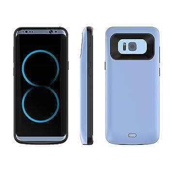 Funda batería Samsung Galaxy S8,Mbuynow 5000mAh Cargador portátil S8 (5.8 inch) Charging Case con Soft TPU Tipo de Protección Full Edge Protección ...