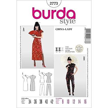 Patrón de costura burda 2773 Suzi Wong - Asia-y vestido de dos piezas
