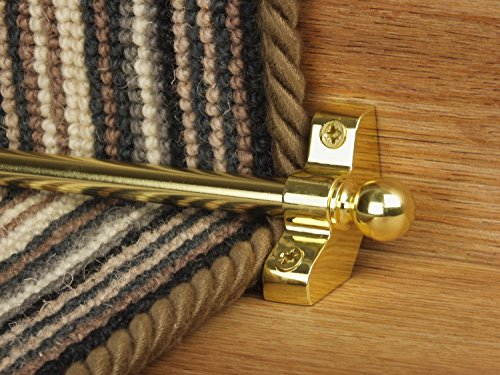 Stair Rods ~ Brass   Easy Rods To Fit   Good Quality Hollow Stair Carpet  Runner Bars Affordable Cheap And New