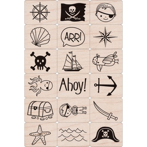 Hero Arts Ink and Stamp Set, Pirate