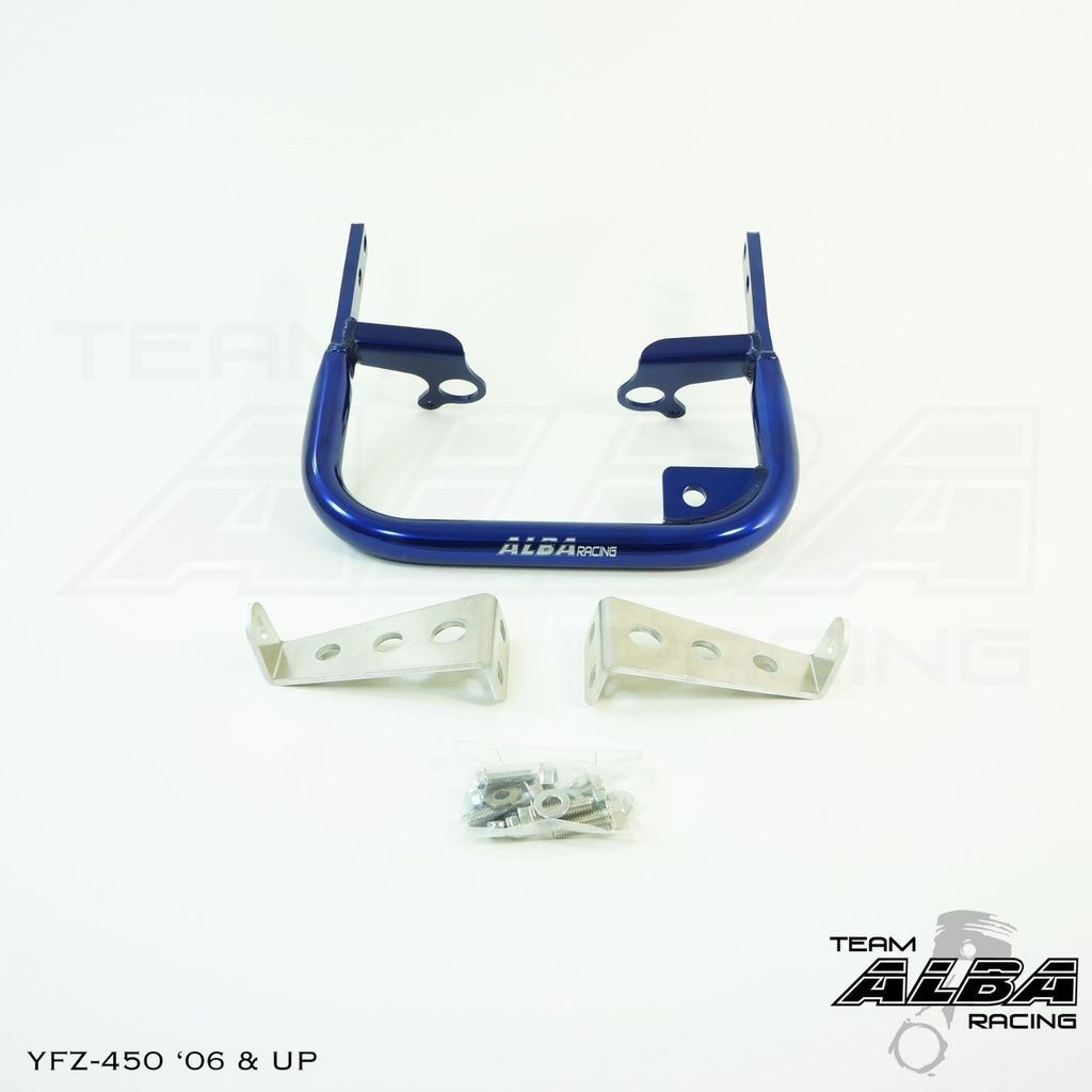 Yamaha YFZ 450 Models (2004-2009/2012-2013) ATV Rear Grab Bar Bumper Blue