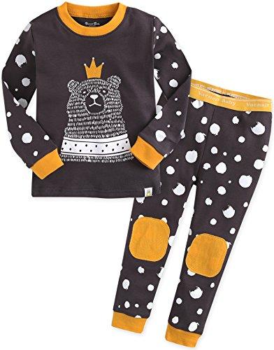 Vaenait baby 12M-7T Kids Boys Sleepwear Pajama 2pcs Set The Love Bear S by Vaenait baby