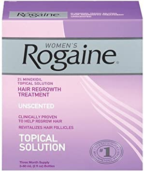 Only FDA-approved topical solution to regrow your hair. – Rogaine for Women Hair Regrowth Treatment, 2 Ounce Pack of 3