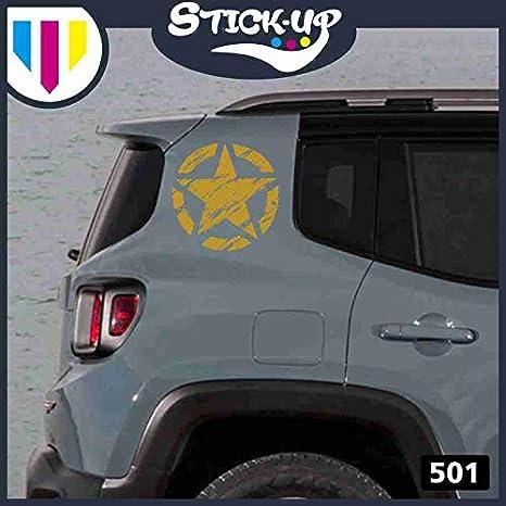 LWEDLW Nuova Generazione 2 Adesivi Stella Militare Diametro cm 20 US Army Jeep Renegade Suzuki Fuoristrada 4X4