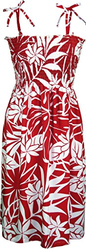 Dresses For Heaven (RJC Women's Floral Heavens Hawaiian Smocked Sundress Red Small)