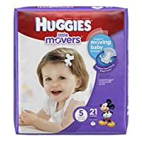 HUGGIES Little Movers Diapers, Size 5, 21 Count (Packaging May Vary)