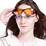 Duco Myopia Night Vision Glasses Specific For Night Driving Polarized 8953Y Common Size Wine Red
