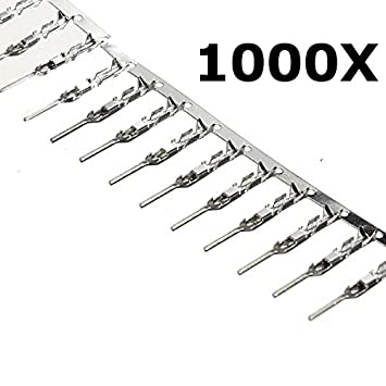 1000Pcs NEW Dupont Jumper Cable Wire Male Pin Connector 2.54mm DIY