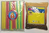 One Pound Loose Leaf Thai Tea and Solid Color Boba Straws Kit