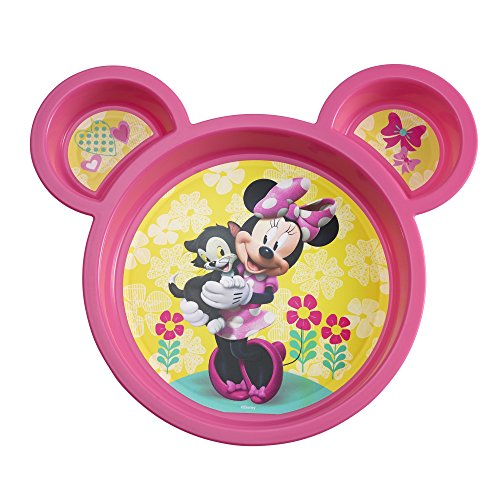 Disney Baby Minnie Mouse Sectioned Plate, Colors May Vary