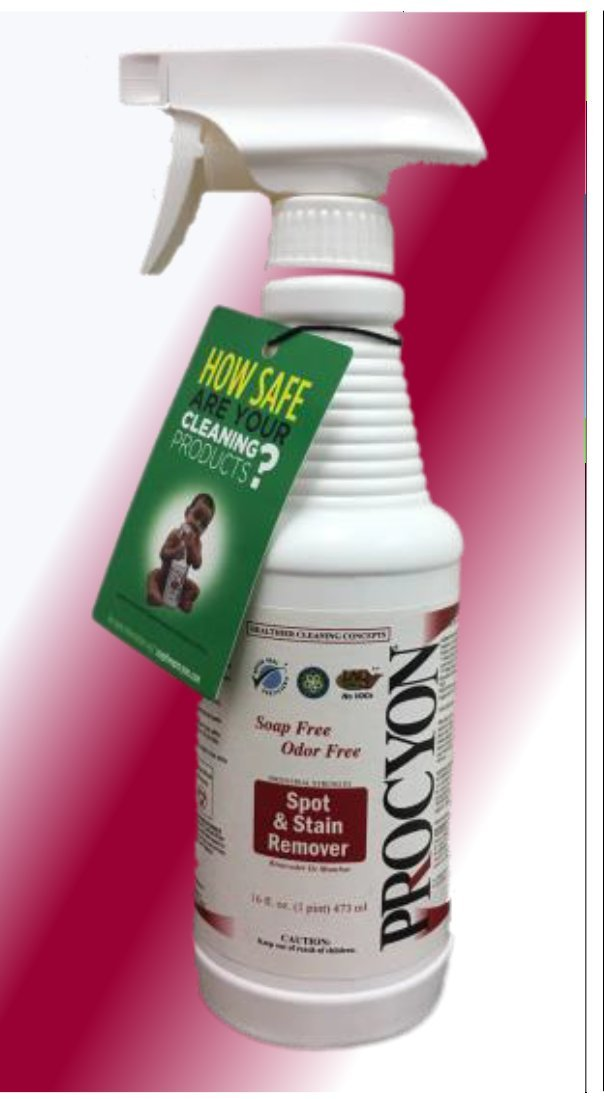 1 Each- 16 oz Bottle- Soap Free PROCYON Spot Remover - Ready to Use