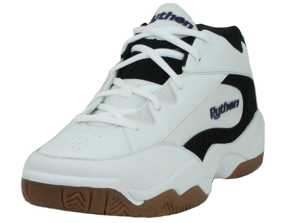 Python Wide (EE) Width Indoor Mid Racquetball (Squash, Indoor Pickleball, Badminton, Volleyball) Shoe (White; Size 7.5)