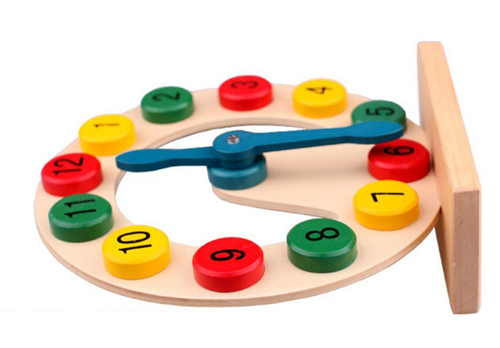 Educational Toys For 4 Years : Jungen wooden clock toy for kids over years old educational toy