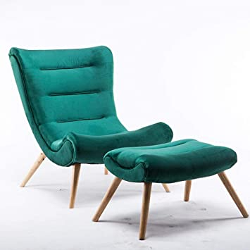 Amazon.com: Sofá nórdico silla caracol tela Lazy sala de ...