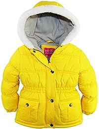 Girls Sherpa Trim Hood Fleece Lined Winter Puffer Jacket Coat