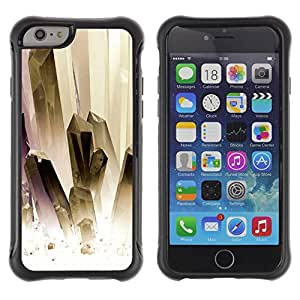 SHIMIN CAO@ Painting White Gold Jewels Clean Rugged Hybrid Armor Slim Protection Case Cover Shell For iphone 6 6S CASE Cover ,iphone 6 4.7 case,iphone 6 cover ,Cases for iphone 6S 4.7