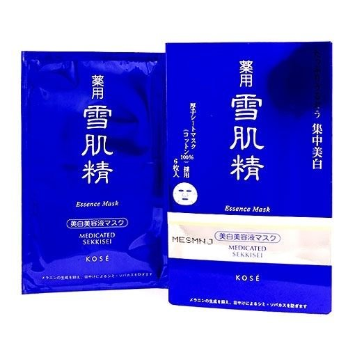 Kose Medicated Sekkisei Essence Mask 6pcs, 1box Skincare Mask NEW (Kose Sekkisei Essence)