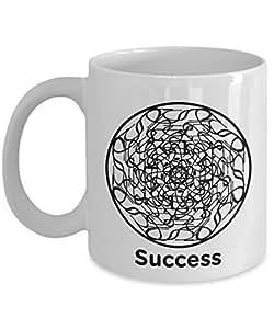 Success Mandala Mug - Circle of Success - 11oz Coffee Mug - Fun - Inspirational - Novelty Mug - Makes a Great Gift for Anyone
